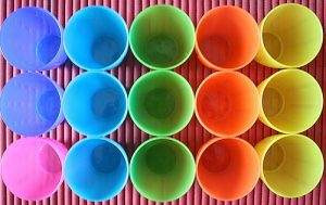 Cones in different colors